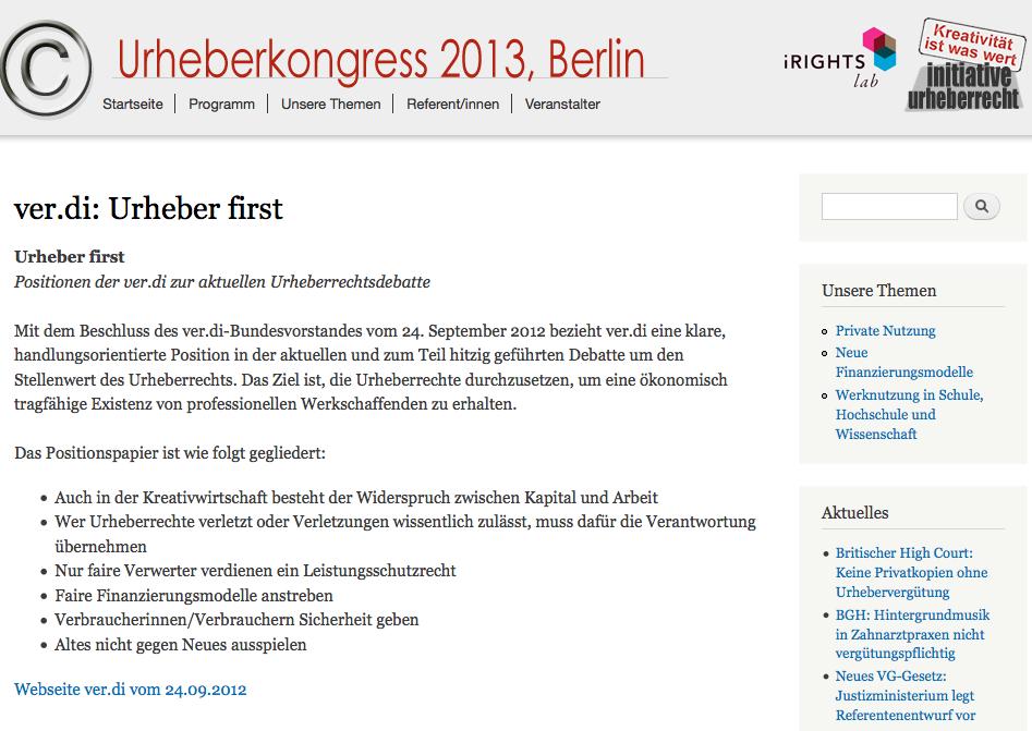 Projekt Urheberkongress