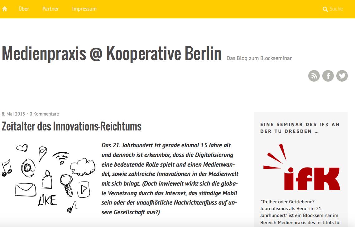 Medienpraxis @Kooperative Berlin
