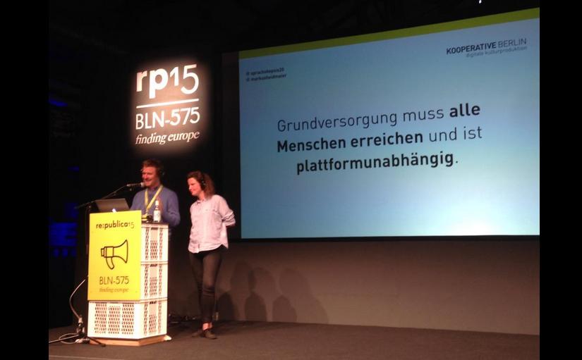 Lydia und Markus auf der re:publica
