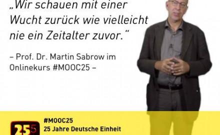 Wir machen den ersten deutschen MOOC zur Zeitgeschichte. #MOOC25