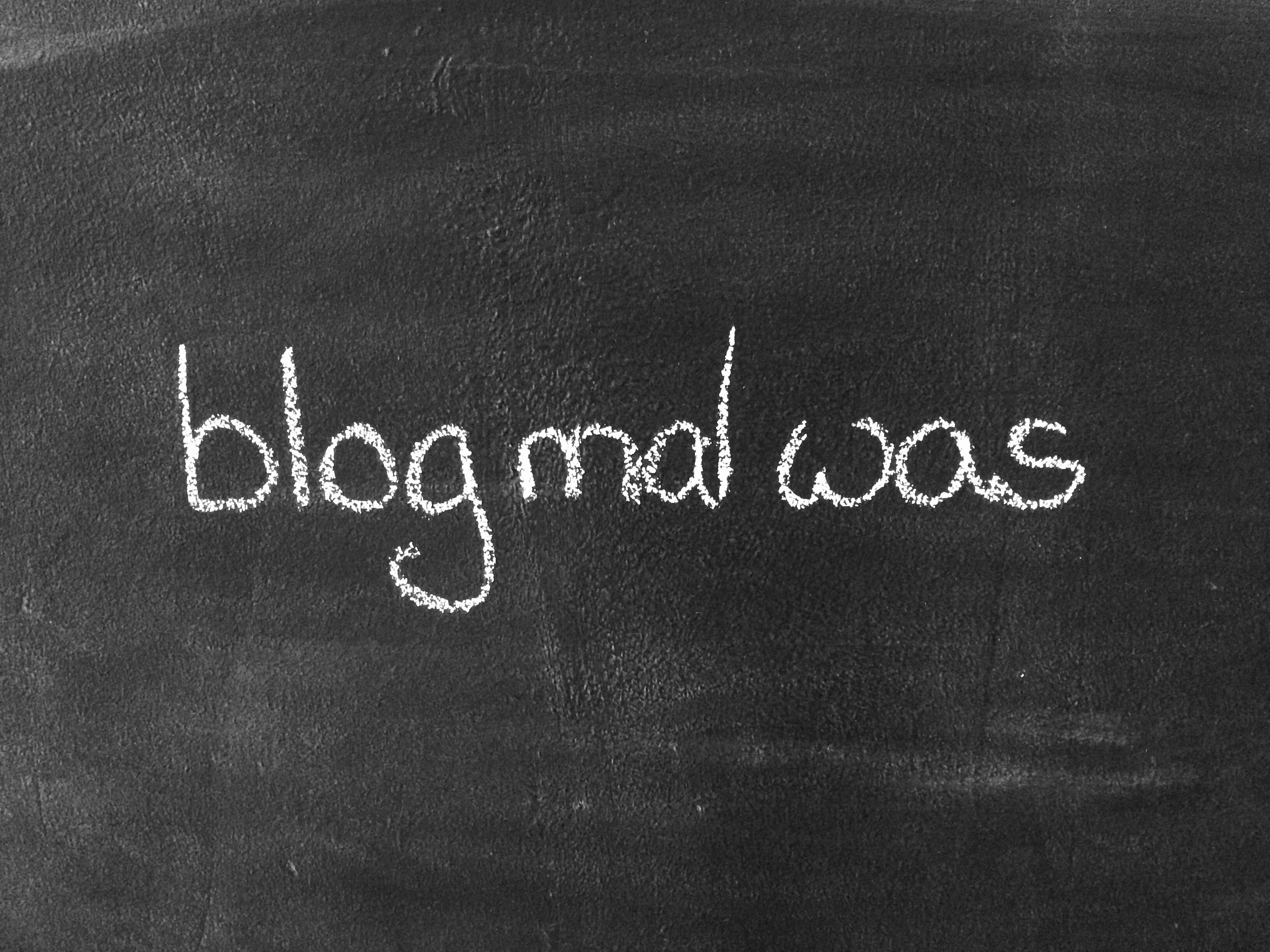 Blog mal was